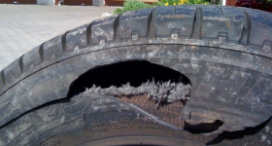How to deal with a tyre blowout while driving
