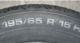 Tyre age and other tyre markings