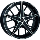 OZ QUARANTA BLACK 7,00x16 4x108,00 ET25,00