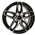 Alkatec AK5 Black Polished 7,50x17 5x114,30 ET40,00