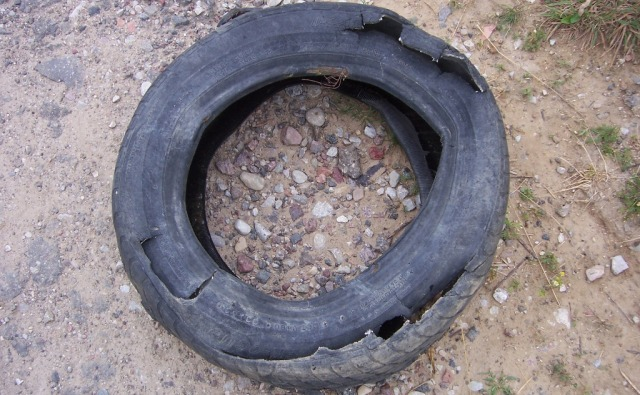 destroyed-tyre